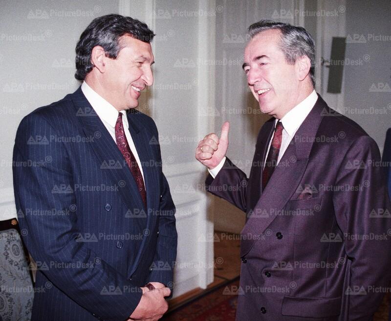 Alois Mock und Jozef Moravcik