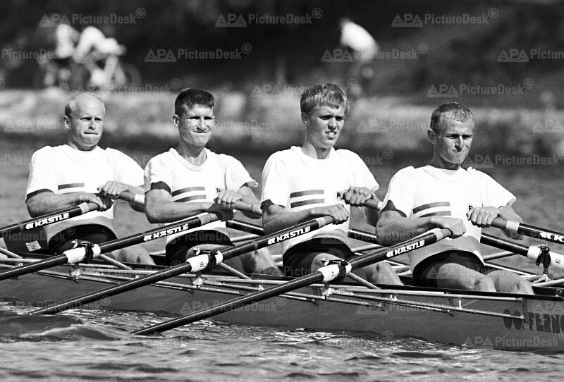 Ruder WM 1991 - M. Kessler, Hinterer, Böhler, C. Kessler (AUT)
