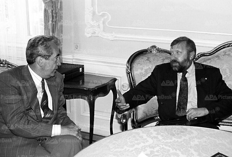 Alois Mock und Dimitrij Rupel
