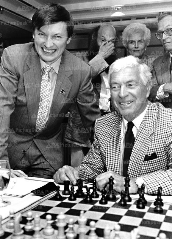 Anatoli Karpow und Kurt Steyrer