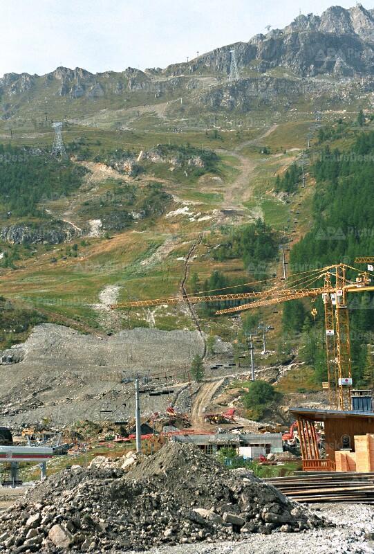 Frankreich - Olympia Abfahrt in Val d'Isere im Bau