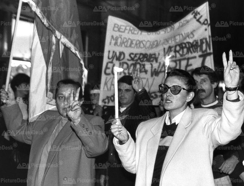 Demonstration - Solidarität mit Kroatien