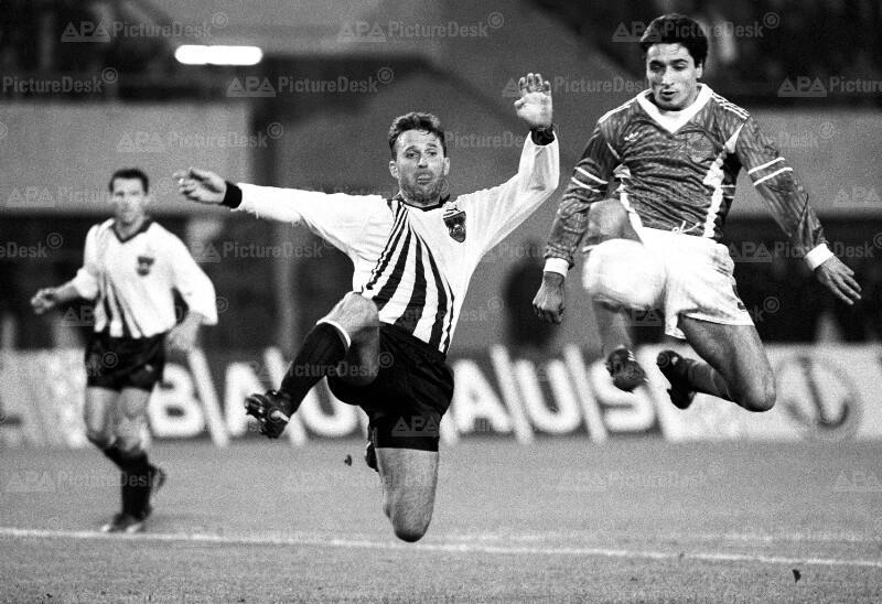 Fußball - EM-Qualifikationsmatch - Österreich vs. Jugoslawien