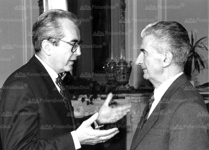 Alois Mock und Gligorov Kiro