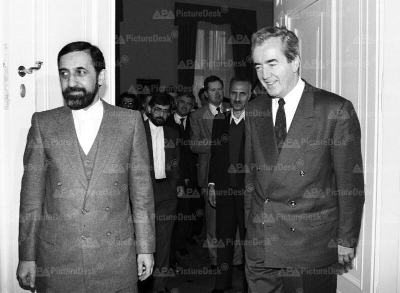 Alois Mock und Ali Akbar Velayati