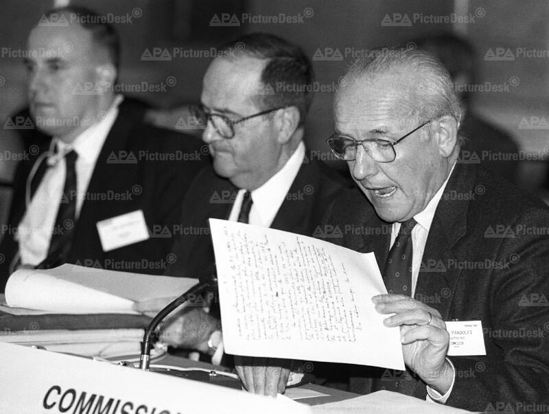 COST-Konferenz 1991 - Duyvendijk, Fasella und Pandolfi