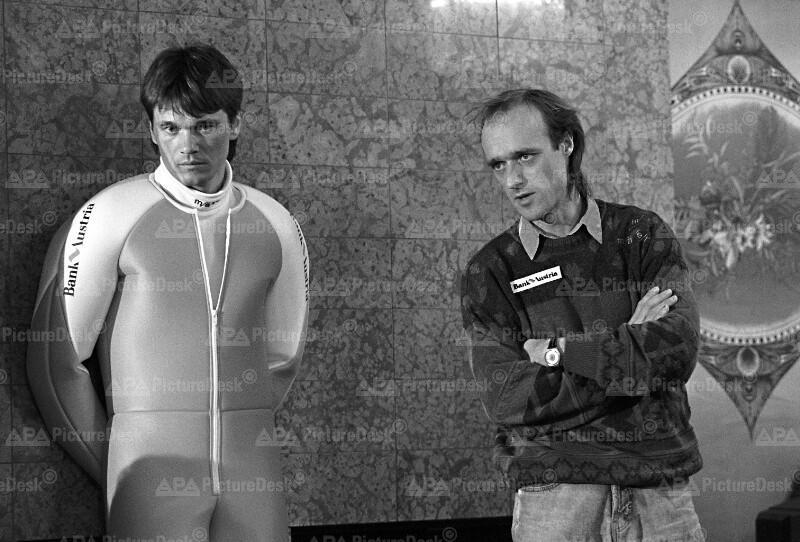 Präsentation des Teams für Vierschanzentournee 1991 - Innauer und Felder