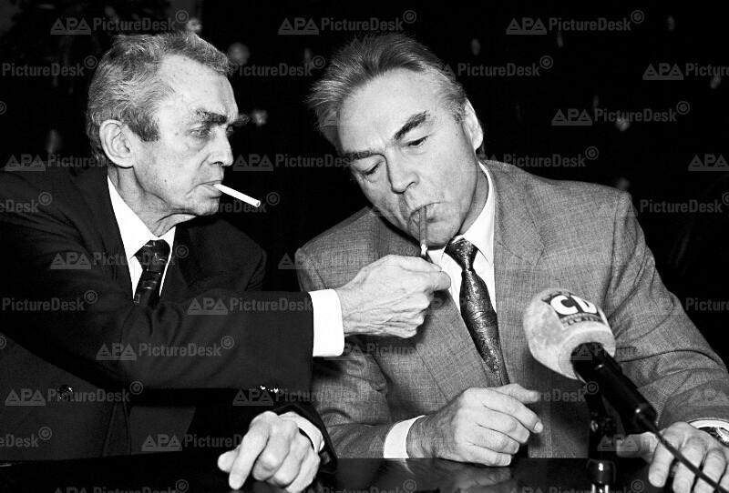 Ernst Happel und Beppo Mauhart