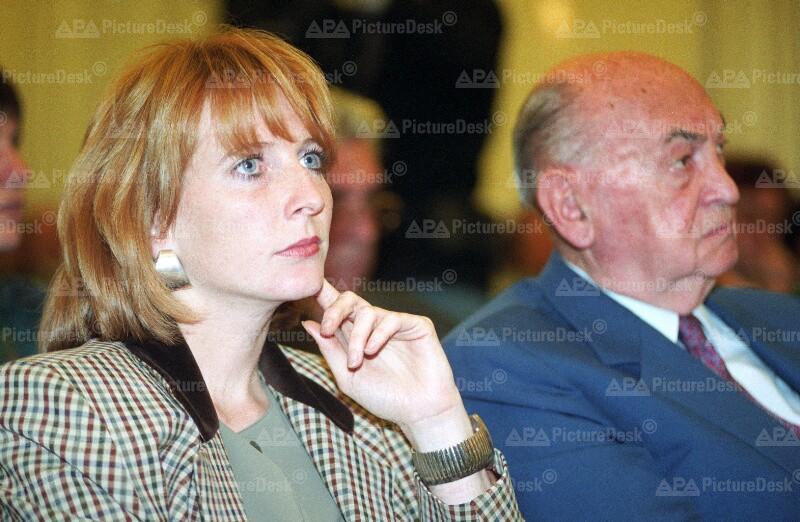 Doris Bures und Anton Benya