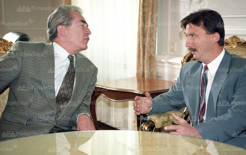 Alois Mock und Irfan Ljubijankic