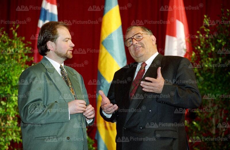 EFTA-Tagung in Wien: Haakon Blankenborg und Herbert Schmidtmeier