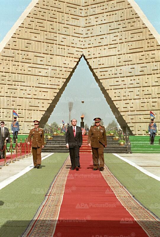 Ägypten - Thomas Klestil und Hosni Mubarak