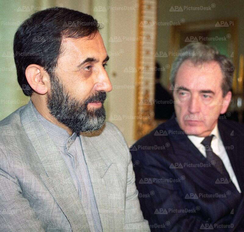 Ali Akbar Velayati und Alois Mock