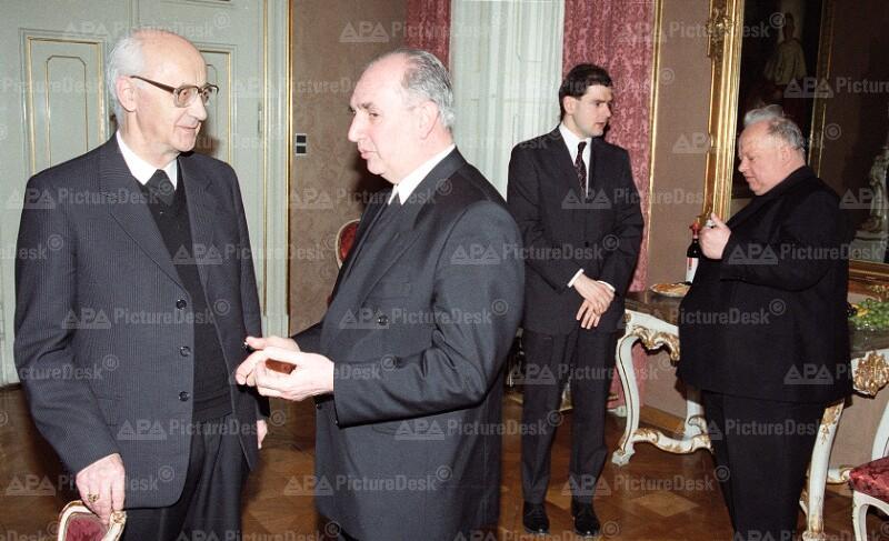 Bischofskonferenz 1993 - Jakob Mayr, Paul Iby und Kurt Krenn