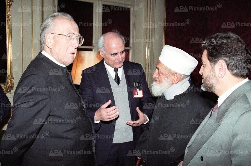 Christlich-Islamische Dialogkonferenz: Kardinal Franz König und Scheich Ahmad Kaftaro