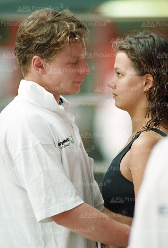 Die Schwimmerin Franzi van Almsick in Wien