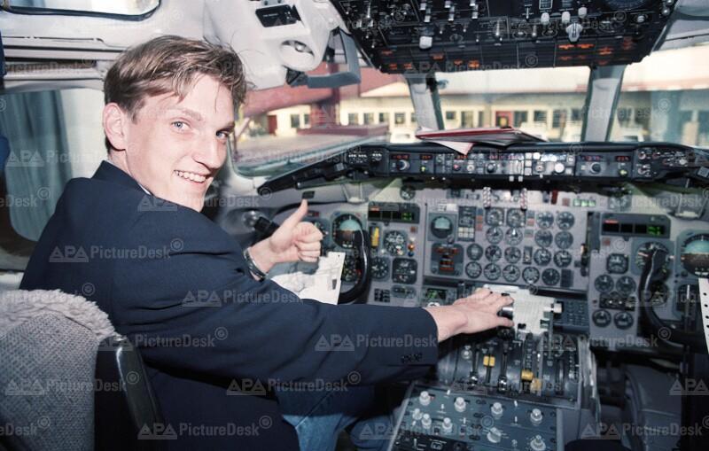 Andreas Herzog im Cockpit