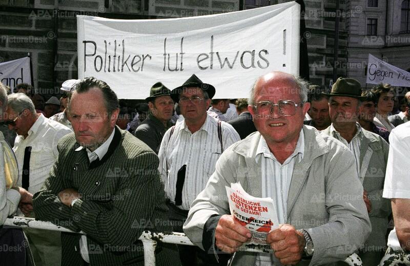 Bauernprotest 1993 gegen fallende Preise