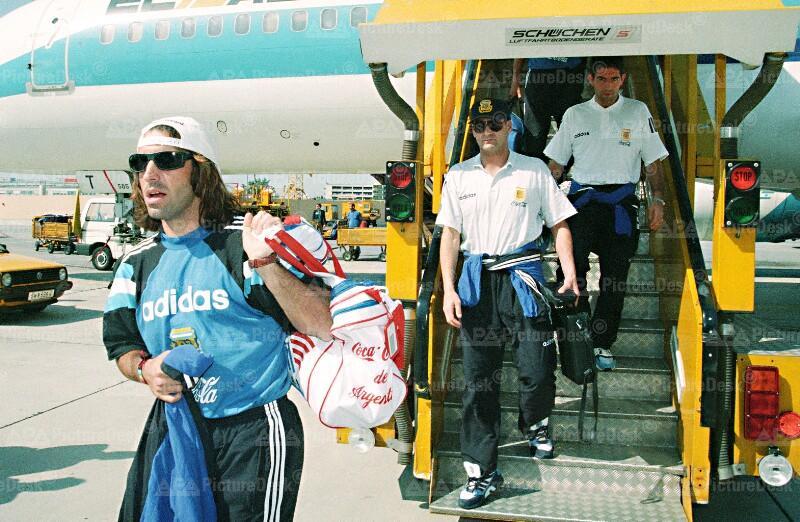 Ankunft der argentinischen Kicker in Wien - Gabriel Batistuta