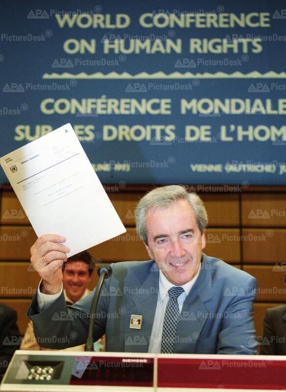 Alois Mock auf UNO-Menschenrechtskonferenz