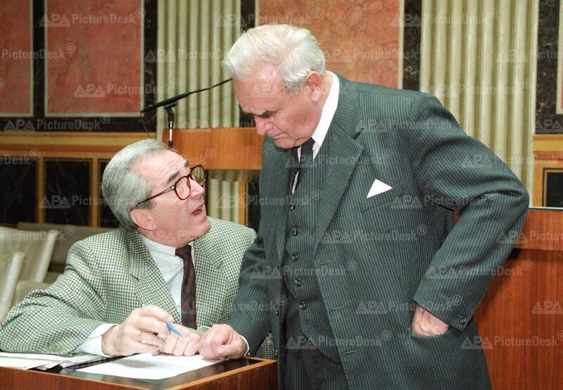 Alois Mock und Herbert Schambeck