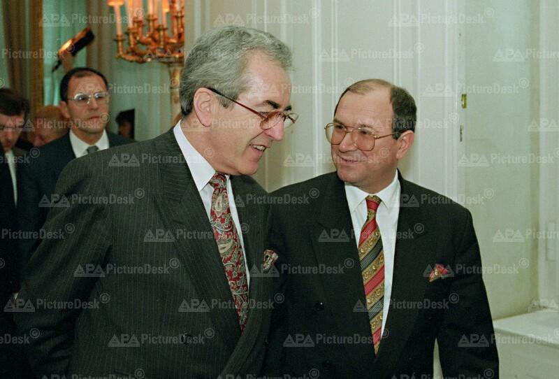 Alois Mock und Mate Granic
