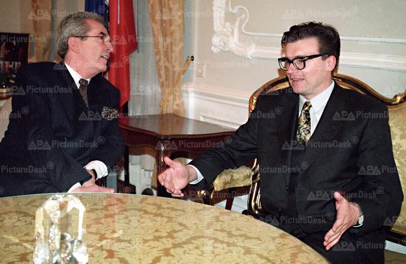 Alois Mock und Zoran Thaler