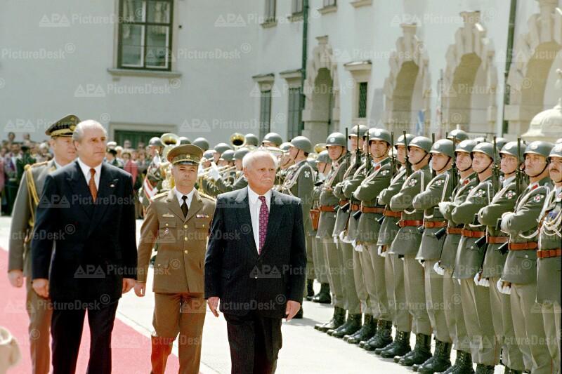 Besuch von Arpad Göncz in Österreich 1995