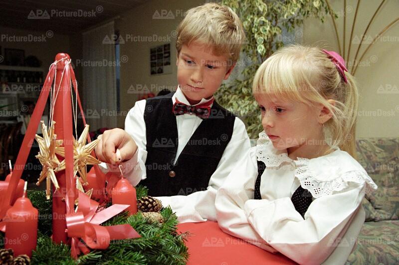 Advent 1995 - die 1. Kerze am Adventkranz