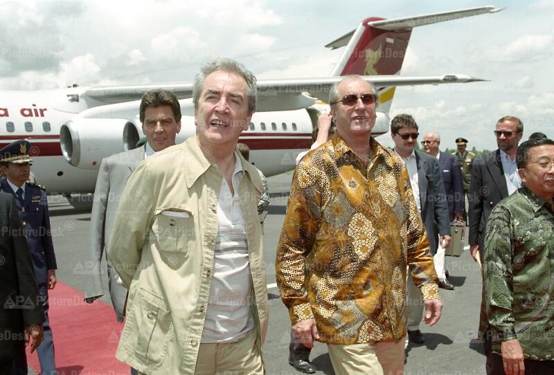 Ankunft von Alois Mock und Thomas Klestil in Indonesien 1995