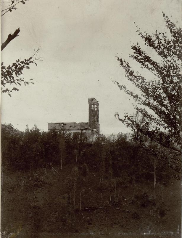 Zerstörte Kirche Heilige Maria in Tolmin (Tolmein)