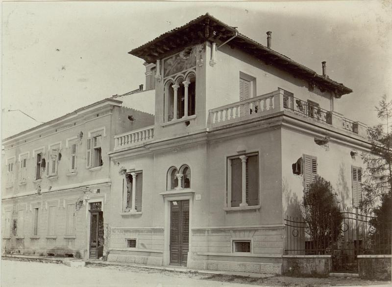Villa in Via Matioli 9. in Görz, beschossen 20.VI.1915.