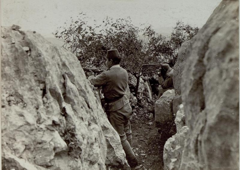 Verteidigungsstellung am Monte Sabotino