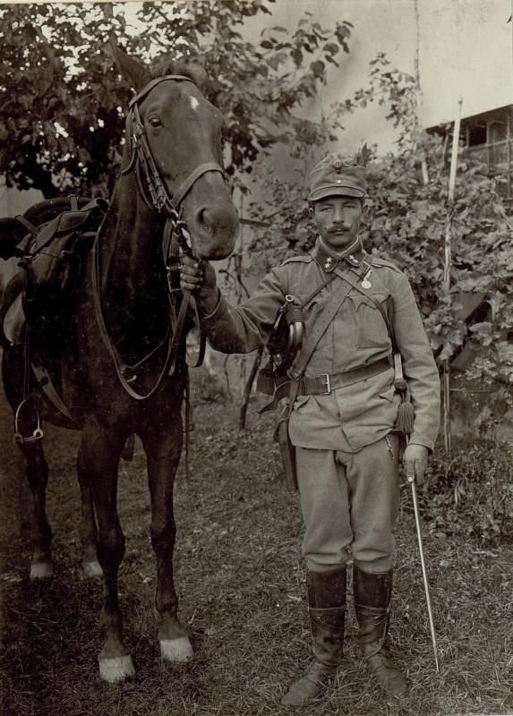 Bataillonshornist Korporal Nikolaus Doms I.BT/90.Jnftr. mit der kleinen silbernen Tapferkeitsmedaille