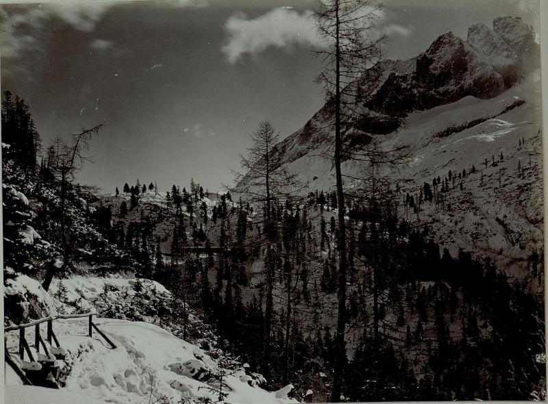 Exzellenz Scholz - Weg und Fedajastellung, aufgenommen am 17. 11. 1915