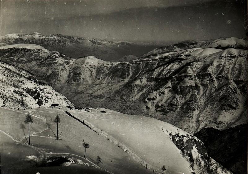 Ausblick vom Roite gegen Zugna.