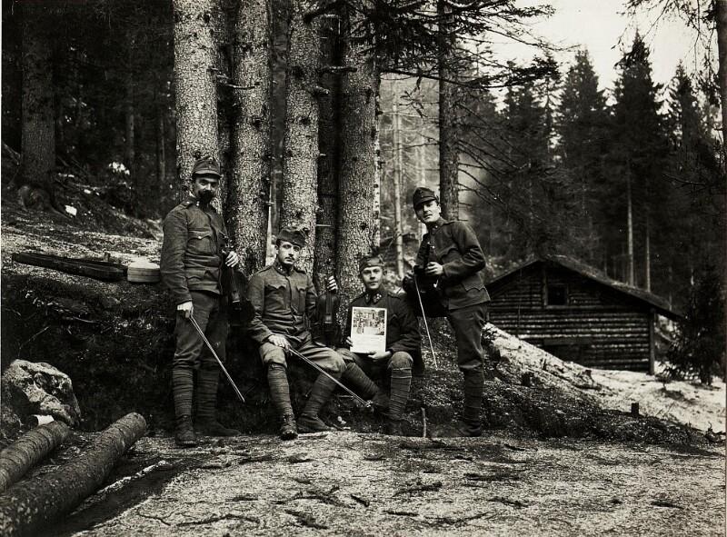 Egerländer Quartett, Tafelmusik bei der Inspizierung durch Erzherzog Friedrich in Beitle.