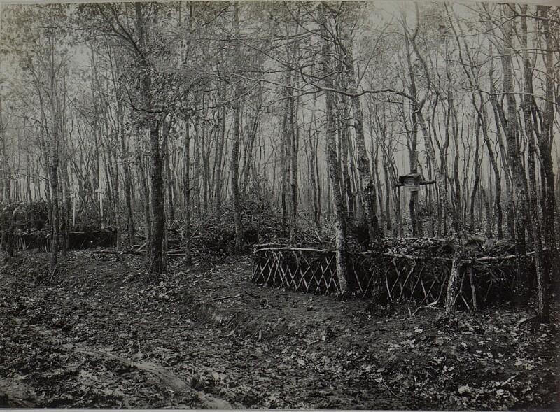 Allerheiligen im Felde. Massengräber des Infanterie-Regiments Nr.  54 im Walde bei Wygoda.