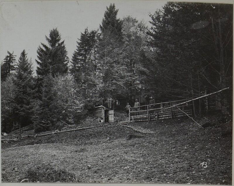 Baonskomdo in Stellung, J.R.93 Turawa Ost Galizien Sept.16