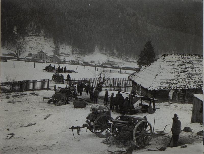 Artilleriestellung in Jakobeny