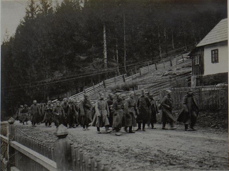 Transport russischer Gefangener