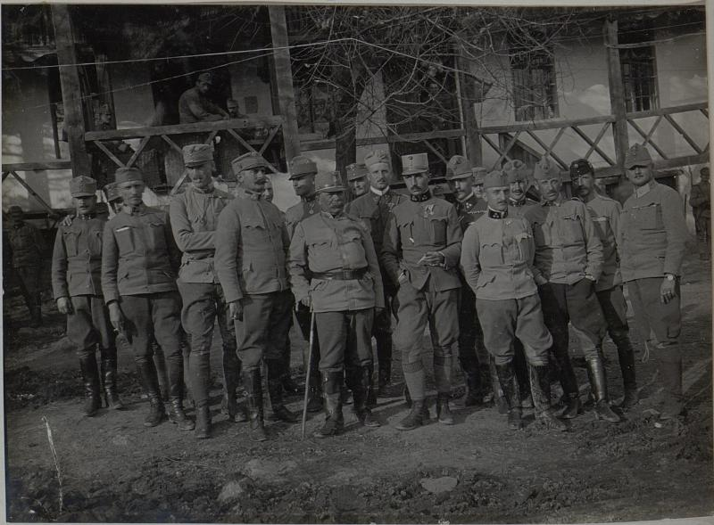 Stab der 59.JTD. Cukojebac an der Morava. November 1915.