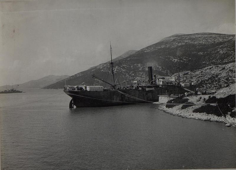 Einschiffung in Neum. März 1916.