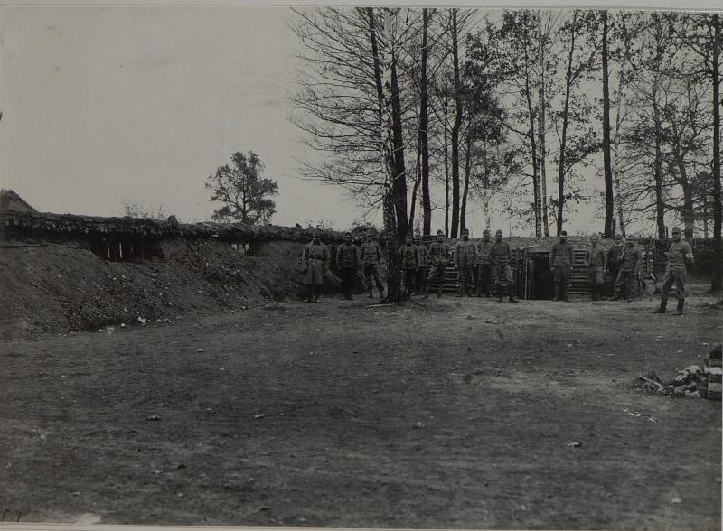 4. Divisionssanitätsanstalt, Mannschaftswohnung in Palzca,  aufgenommen am 12. Dezember 1915