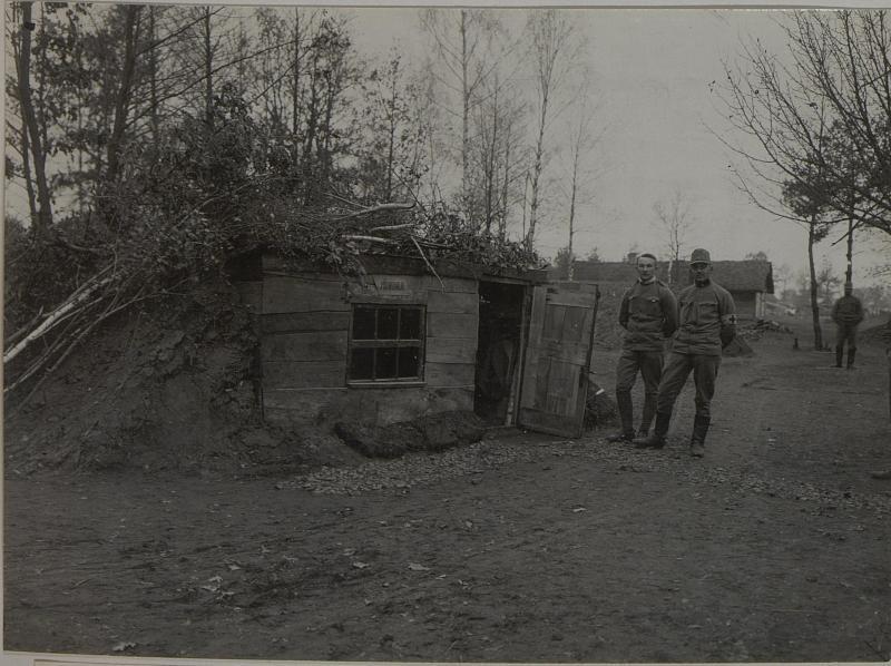 4. Divisionssanitätsanstalt,  Proviantamt in Palzca, aufgenommen am 10. Dezember 1915