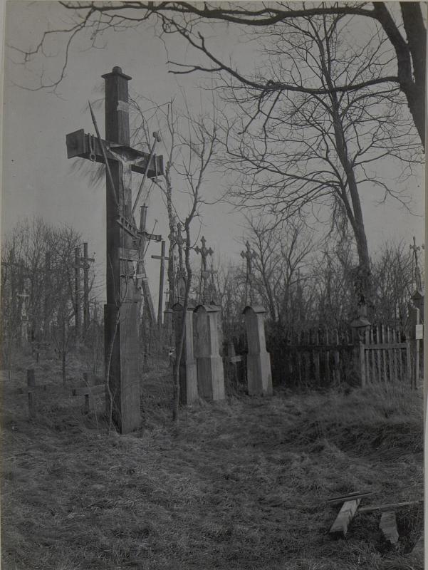 Friedhofpartie von Mikuliczy. März.1918.