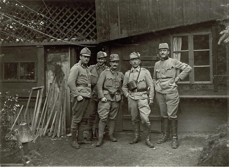 Bataillonskommando am Ravelnik. (Ablösung.)