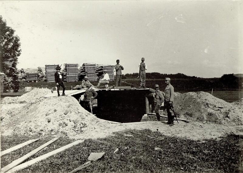 Artillerie Unterstand System MATJOK. Standort: Cellulosefabrik Villach. Aufgen 31. August 1915.