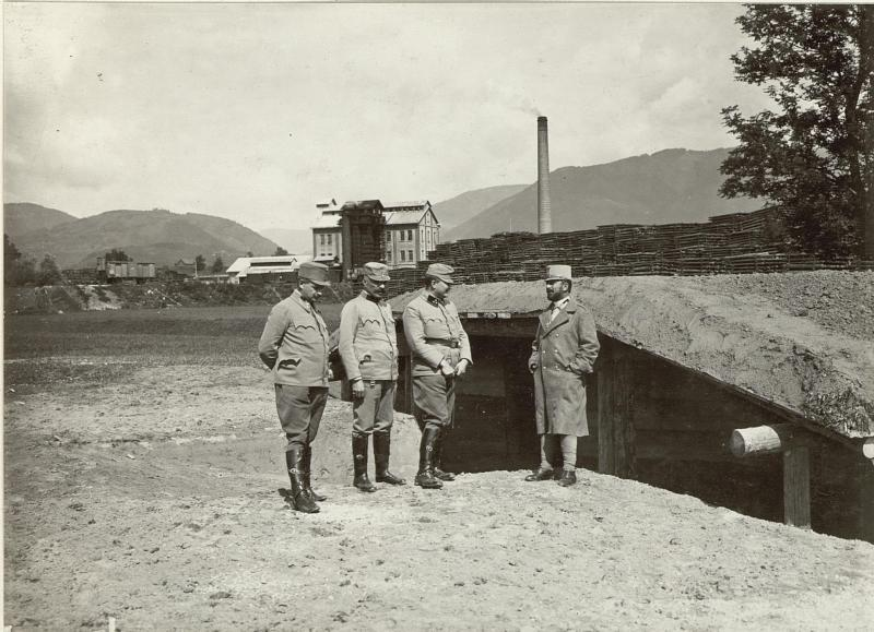 Artillerie Unterstand System MATJOK. Standort: Cellulosefabrik Villach. Aufgen. 31. August 1915.