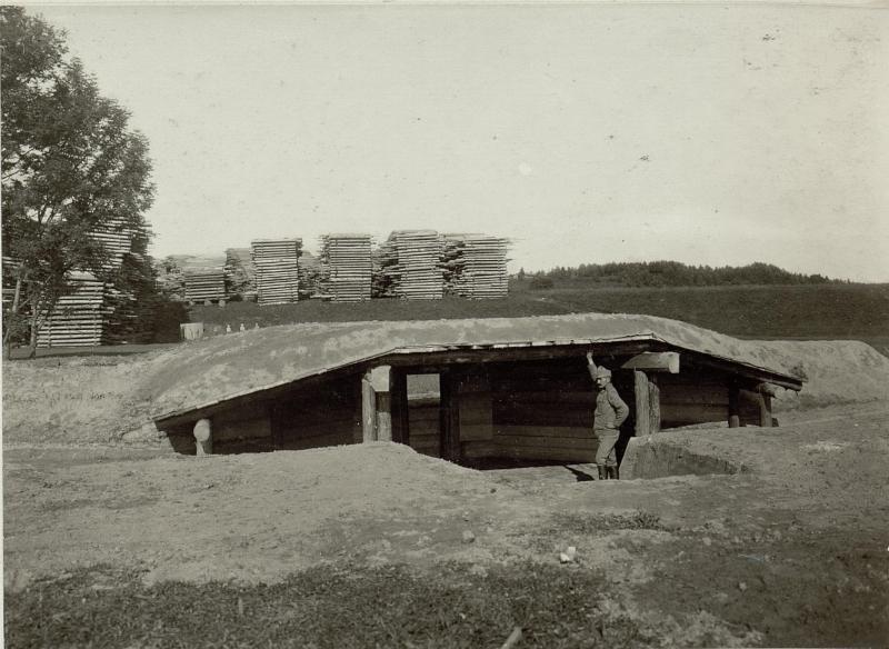 Artillerie Unterstand System MATJOK. Standort: Cellulosefabrik Villach. Aufgen. 31.August 1915.